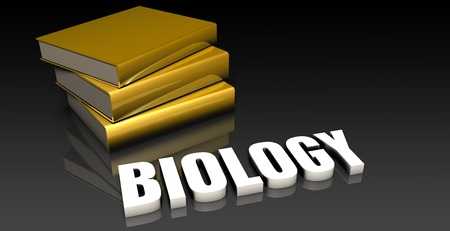subject: Biology Subject with a Pile of Education Books