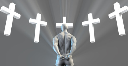 inmate: Religious Reform in Prison and Christian Faith Stock Photo