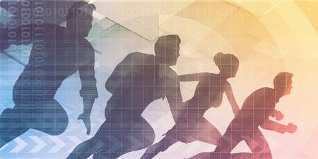 Sales Strategy and Team Target KPI Art 写真素材