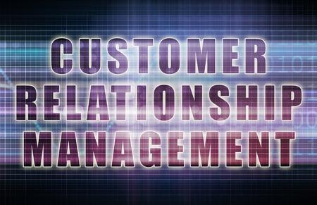 비즈니스 차트에서 고객 관계 관리 또는 CRM