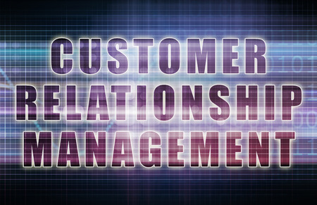 relationship management: Customer Relationship Management or CRM on a Business Chart