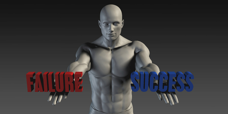 preference: Success or Failure as a Versus Choice of Different Belief Stock Photo