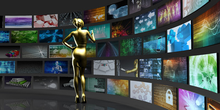 Video Technology Reaching Images and Content Streaming Digital Stock Photo