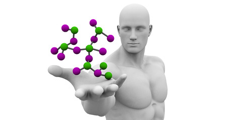 medical technology: Medical Science Technology with Scientist Holding Molecule