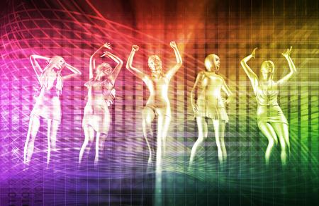 디스코 전자 음악 테크노 파티 배경 아트 스톡 콘텐츠