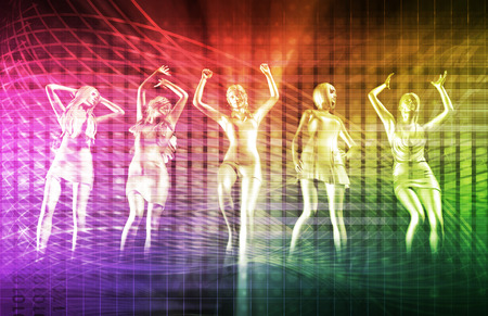 electronic background: Disco Electronic Music Techno Party Background Art