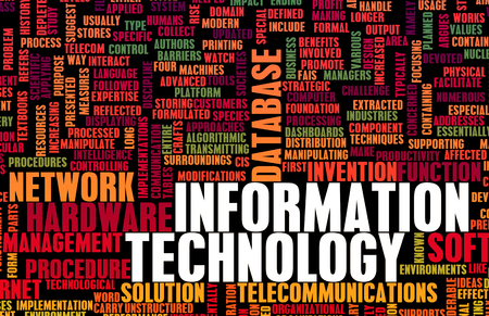 it technology: Information Technology or IT as a Career Industry Stock Photo
