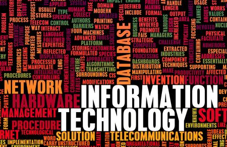 Informationstechnologie oder IT als Career Industry Standard-Bild - 46925265