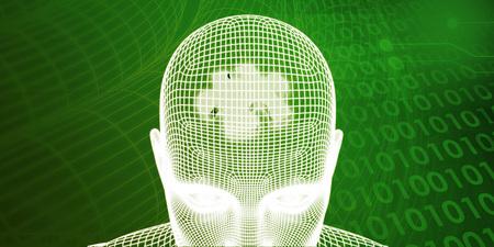 mente humana: Procesador cerebro de una mente humana y el concepto de memoria Foto de archivo