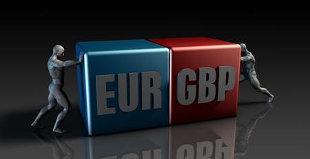 eur: EUR GBP Currency Pair or European Euro vs British Pound
