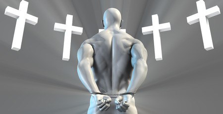 Divine Intervention and Religious Change for Convict Stock Photo