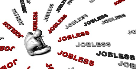coping: Suffering From Jobless with a Victim Crying Male