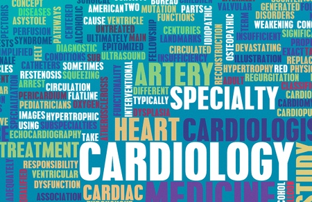 specialty: Cardiology or Cardiologist Medical Field Specialty As Art Stock Photo