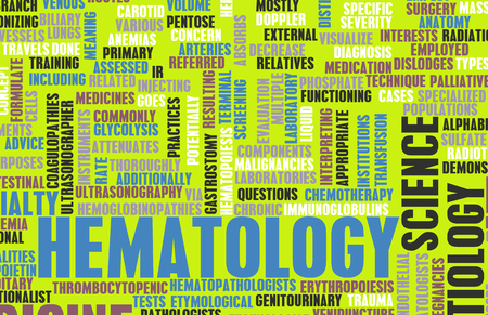 terminology: Hematology or Hematologist Medical Field Specialty As Art