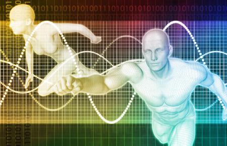 anatomie humaine: Médecine Sport et Fitness Analytics comme un Concept