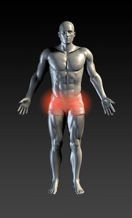 Groin Injury with Red Glow on Area Series
