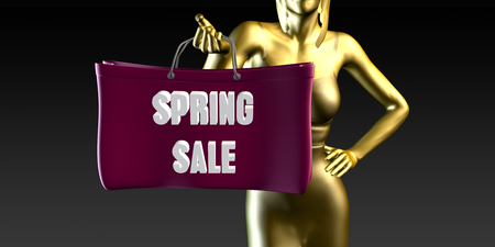 spring sale: Spring Sale with a Lady Holding Shopping Bags
