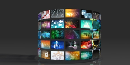 Multimedia Background for Digital Network on the Internet Imagens