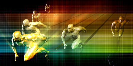positioning: Sports Marketing and Branding Business Concept Art Stock Photo