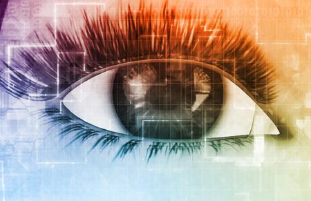 Online Privacy met Big Brother Onderscheppen Persoonsgegevens Stockfoto