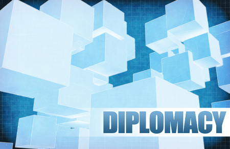 diplomacy: Diplomacy on Futuristic Abstract for Presentation Slide