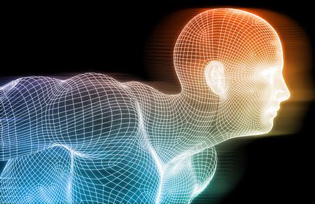 개념으로 피트니스 기술 과학 라이프 스타일 스톡 콘텐츠