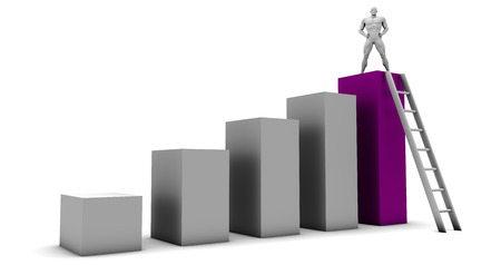 perseverance: Reaching New Heights Through Perseverance and Dedication Stock Photo