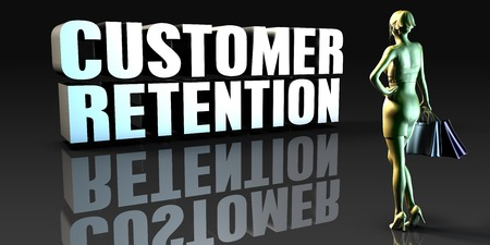 retention: Customer Retention as a Concept with Lady Holding Shopping Bags
