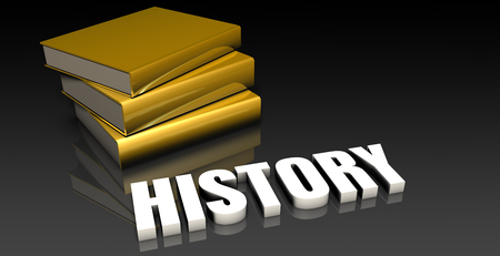 subject: History Subject with a Pile of Education Books Stock Photo