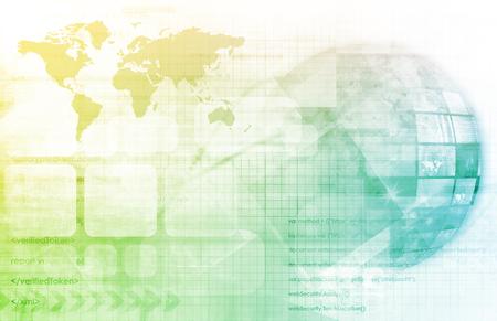 communication: Globe numérique avec interreliés Multimedia Nodes comme Art