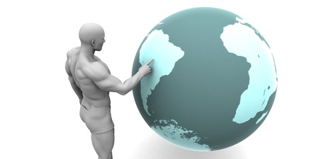 emerging economy: Business Expansion into South America Continent Concept
