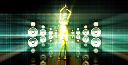 abstract dance: Abstract Music Dance Background for a Music Event