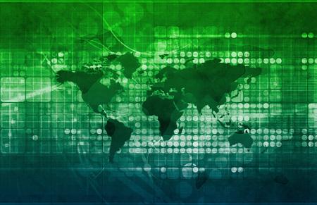 desarrollo económico: Tratados Comerciales Internacionales y de Desarrollo Económico de Arte Foto de archivo
