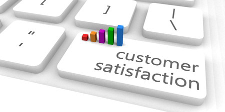 for: Customer Satisfaction as a Fast and Easy Website Concept Stock Photo