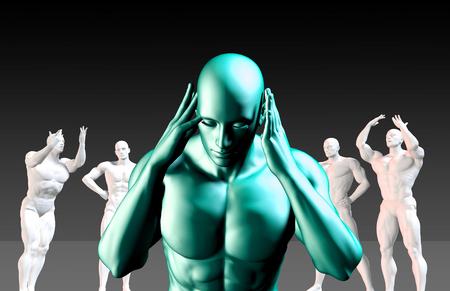 conflictos sociales: Intimidación Concept en una empresa o Escuela