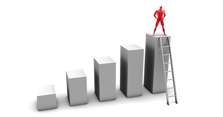 heights job: Reaching New Heights Through Perseverance and Dedication Stock Photo