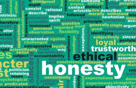 ethical: Honesty and Trustworthy Character of a Person