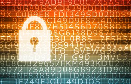 추상적 인 배경으로 데이터 센터 보안 서버