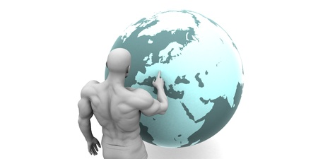 emerging economy: Business Expansion into Europe or European Continent Concept