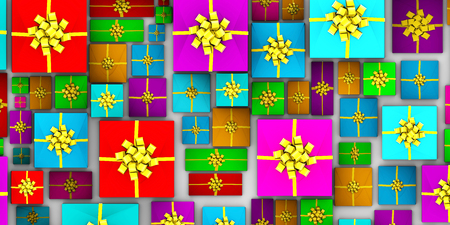 abstract art background: Christmas Gifts Background as a Abstract Concept Art
