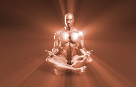 luminance: State of Enlightenment in a Yoga Class Stock Photo
