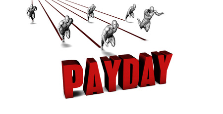 payday: It Is Payday with a Business Team Racing Concept