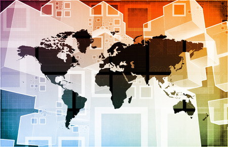 import export: Global Import Export Business as a Presentation Art Stock Photo