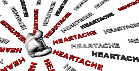heartache: Suffering From Heartache with a Victim Crying Male