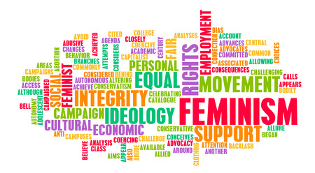 equality: Feminism Ideology for Equality and Fair Treatment Stock Photo