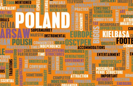 oscypek: Poland as a Country Abstract Art Concept