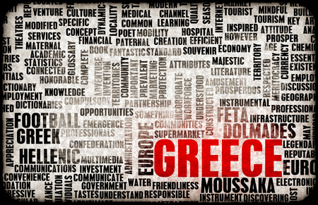 greek food: Greece as a Country Abstract Art Concept