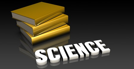 subject: Science Subject with a Pile of Education Books