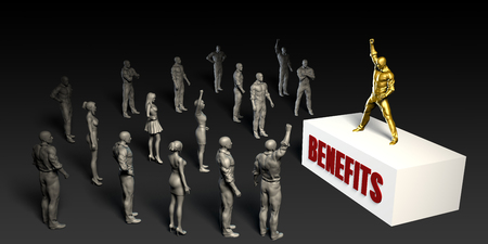 demanding: Benefits Fight For and Championing a Cause Stock Photo