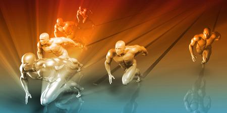 Fitness Training Program as a Art Concept Stock Photo